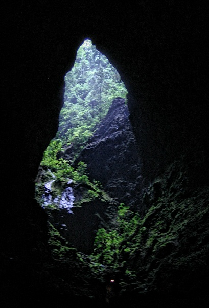 The entrance to Dunn's Hole Cave - Photo by Guy van Rentergem