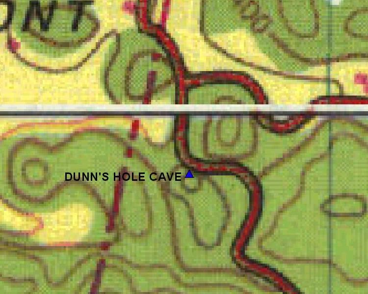 Detailed Area Map for Dunn's Hole