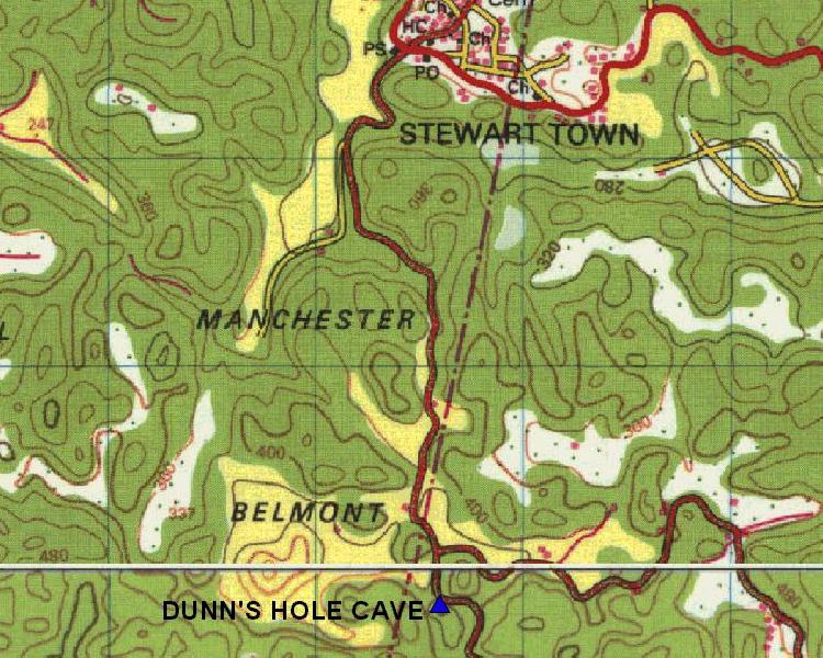 Area Map for Dunn's Hole