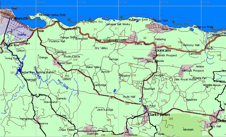 Jamaica GPS Vector Maps for Garmin Receivers