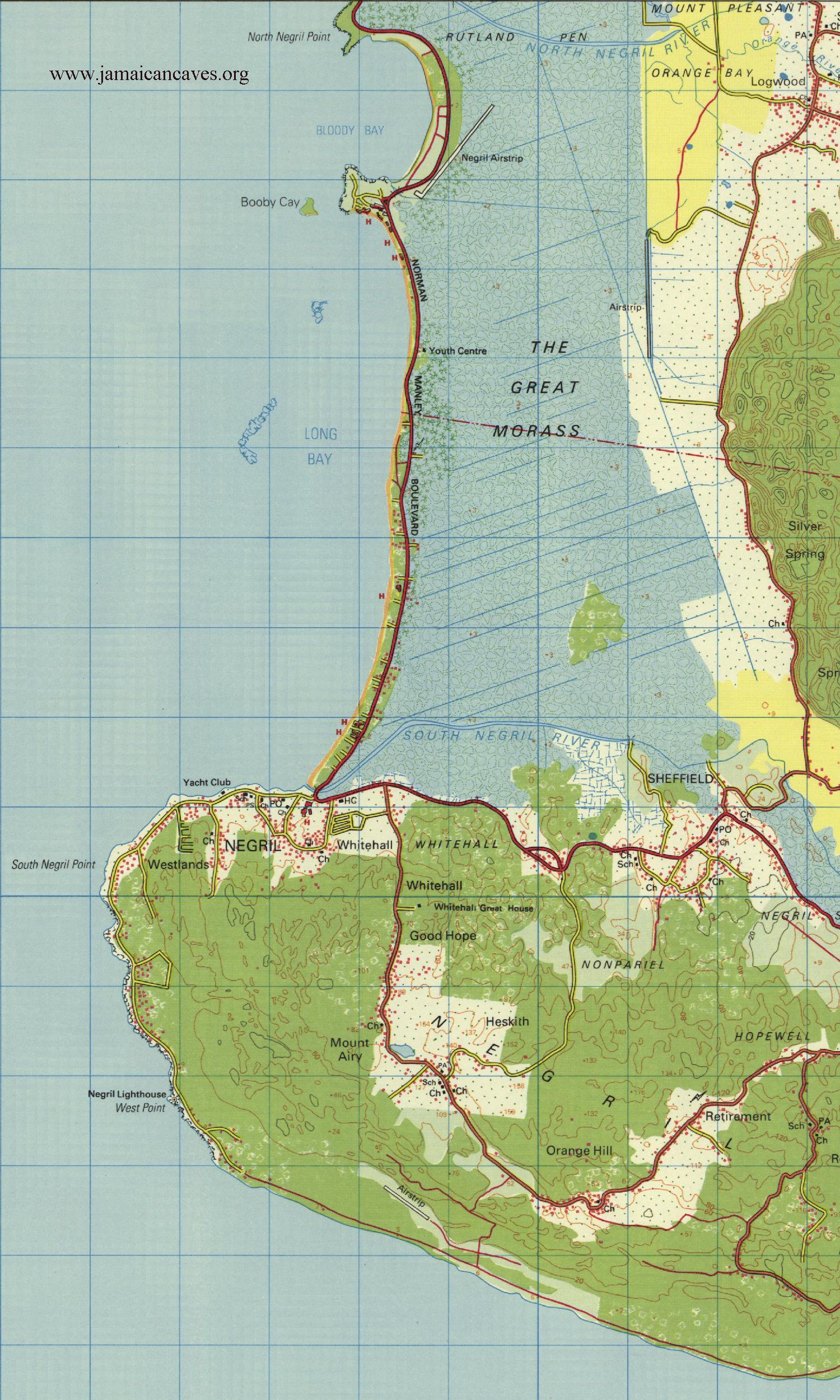Topo Map for Negril