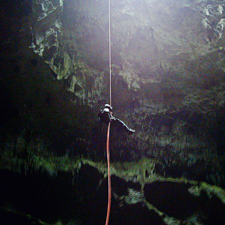 Mark Bellinger at Thatchfield Cave