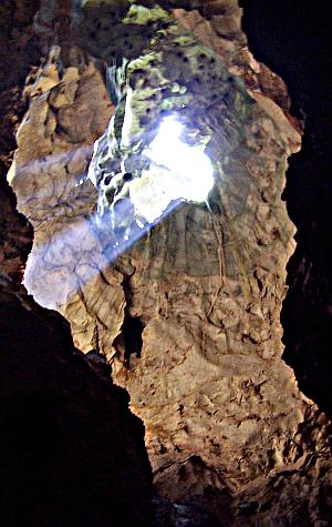 The Lighthole at Drip Cave - Photo by Jan Pauel