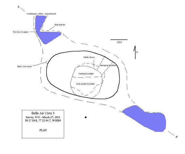 Belle Air Cave 3 - PLAN