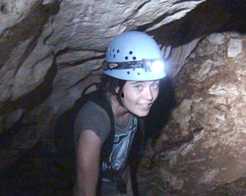 Iris Holmes at Belle Aire Cave 4