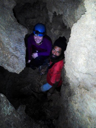 Megan Ursic and Kingman at St Clair Cave
