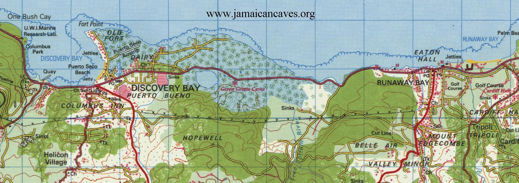 Topo Map for Runaway Bay