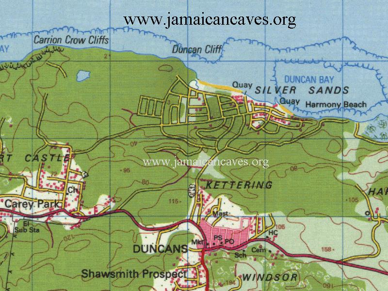 Map of Silver Sands, Jamaica