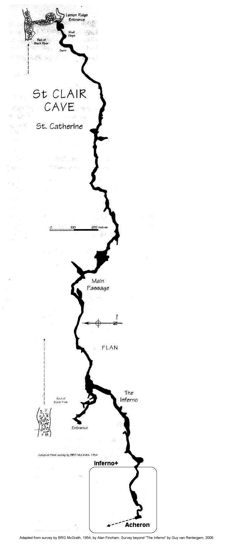 Map of St Clair Cave