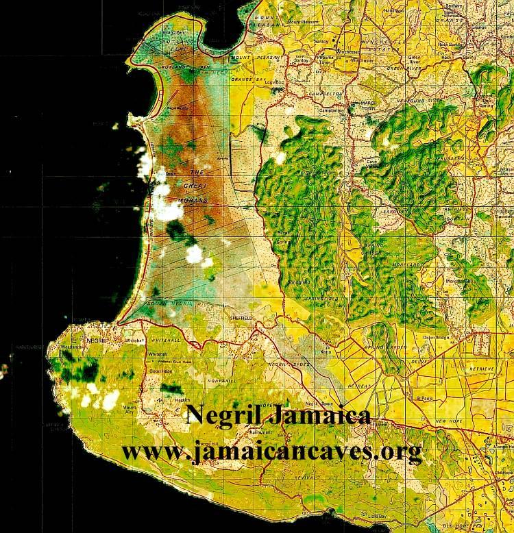 negril jamaica map. Raster Maps Jamaica GPS