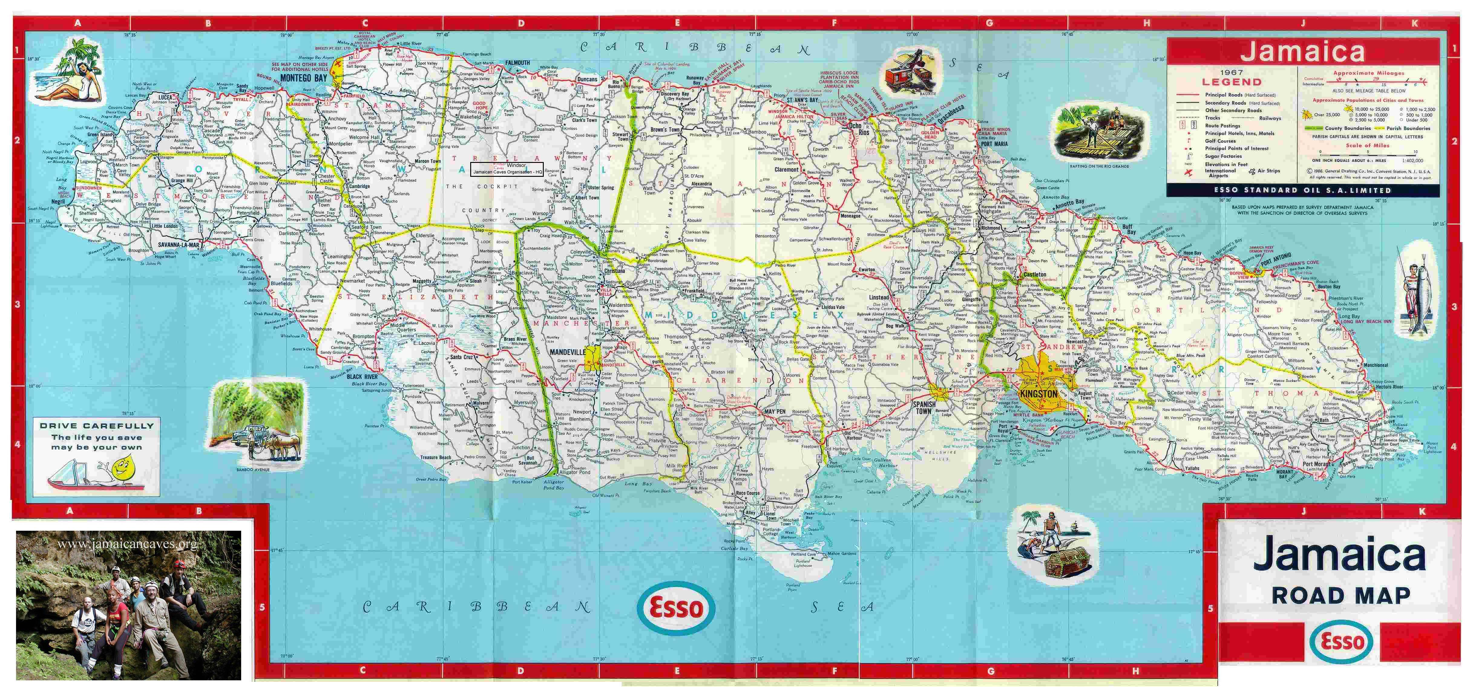 Show Me A Map Of Jamaica Jamaica Road Map, Free Jamaican Road Maps Online